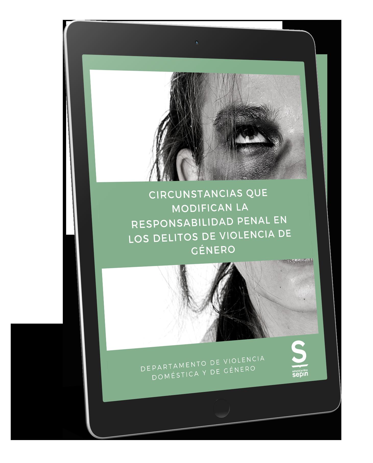 Ebook Circunstancias que modifican la responsabilidad penal en los delitos de violencia de género