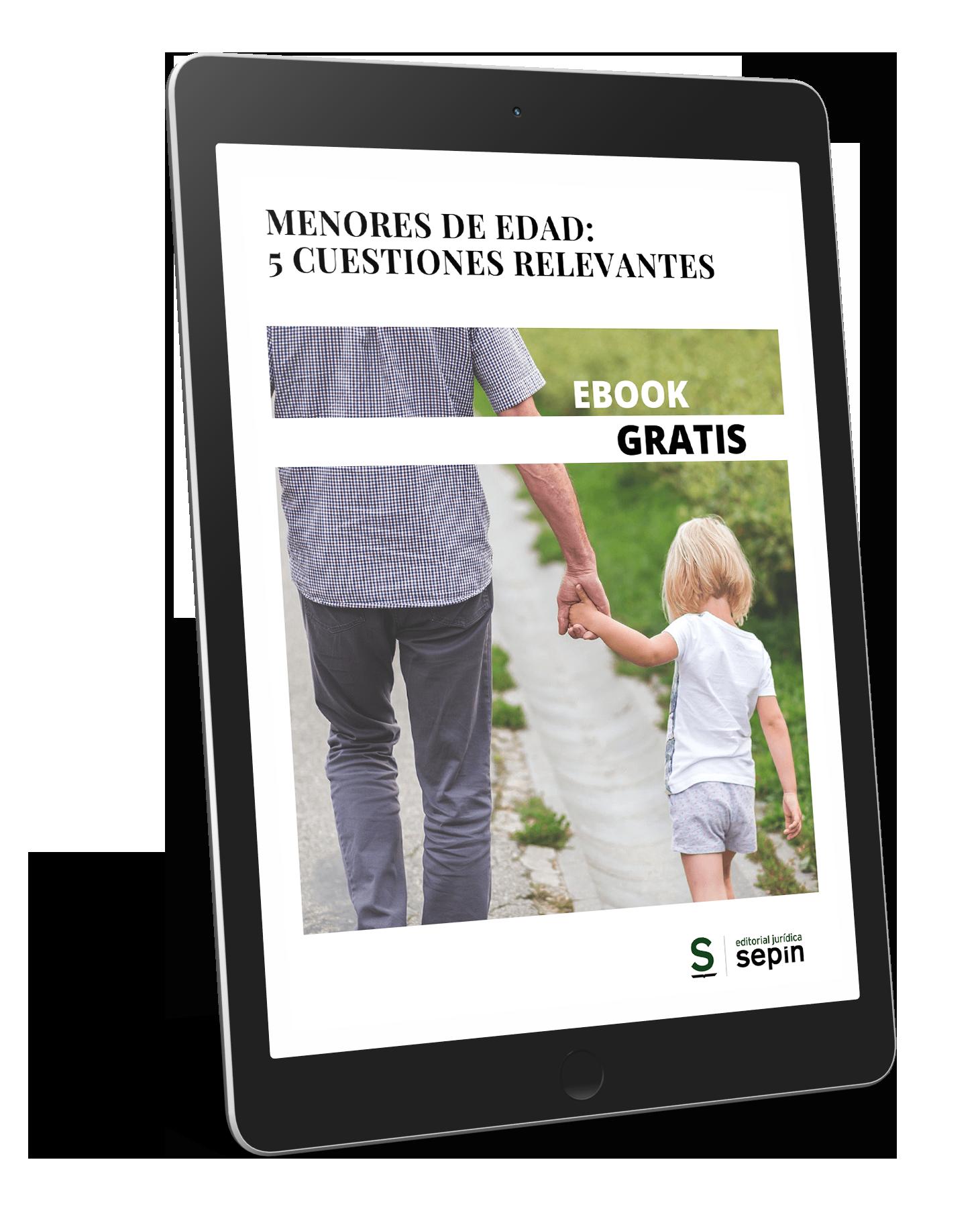Ebook Menores de edad 5 cuestiones relevantes
